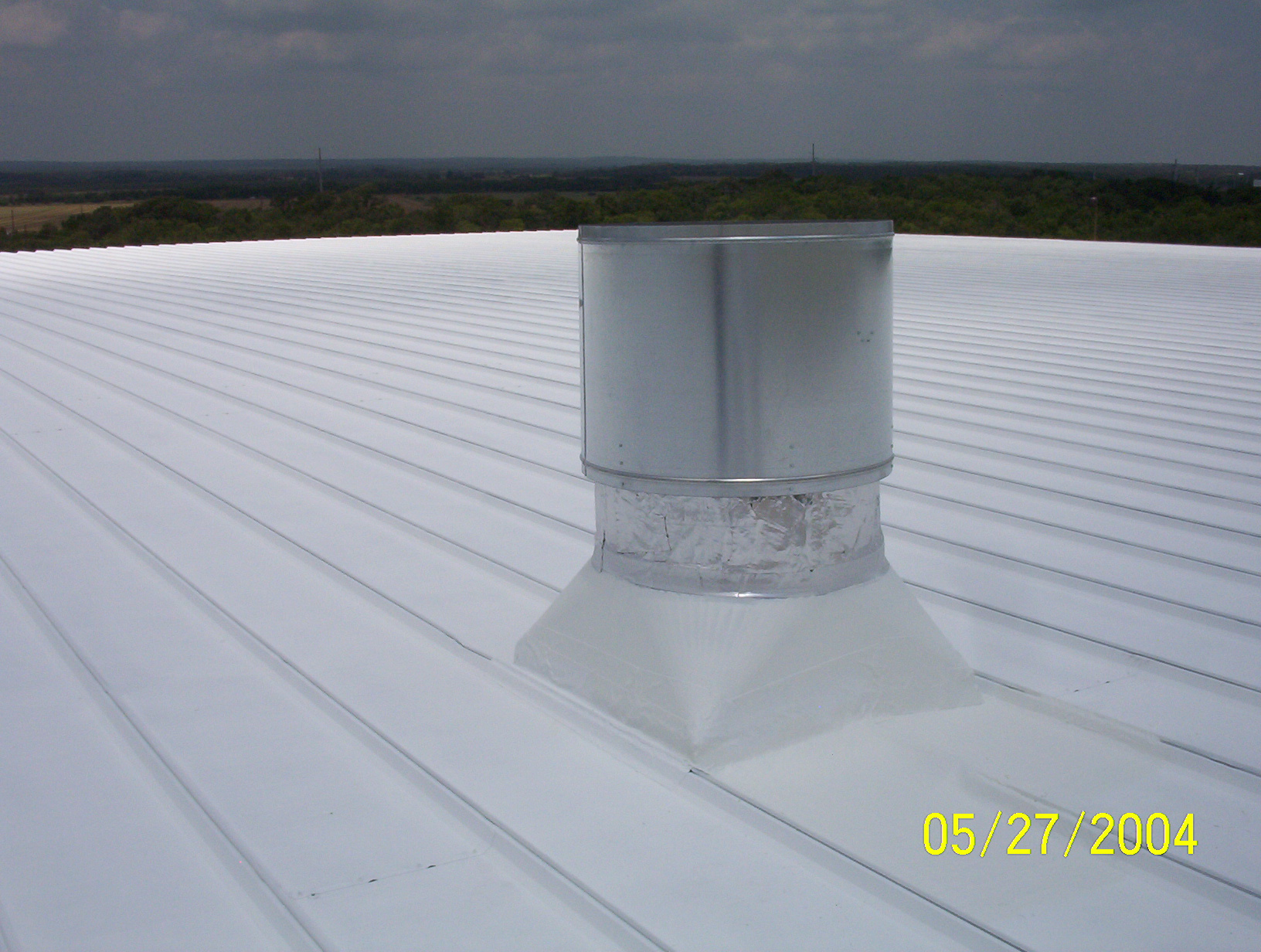 Vent and roof coated