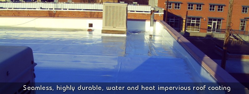 Reduce your heating and cooling costs with Polarhide seamless roof coating